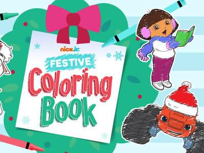 Nick Jr Festive Coloring Book
