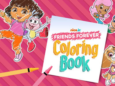 Nick Jr- Friends Forever: Coloring Book